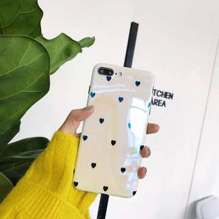 iPhone Case ip7 soft case 韓國心心殻 9成新