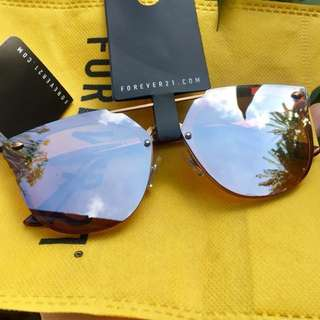 Forever21 rosegold sunglaases