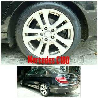 Tyre 225/45 R17 Membat on Mercedes C180 🐕 Super Offer 🙋♂️