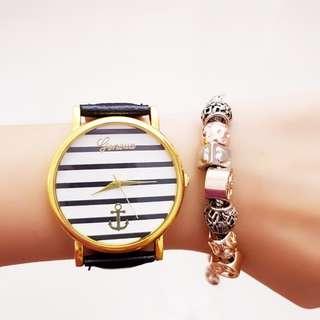 Nautical Thin Stripe Design Watch
