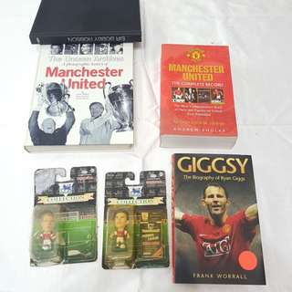Manchester United football books bundle with arsenal headliners