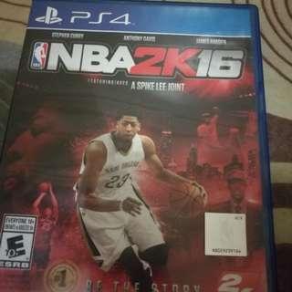 NBA 2K16 PS4 Game