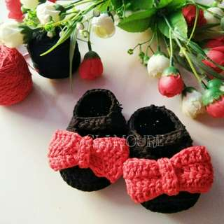 Minnie Ribbon Shoes Crochet