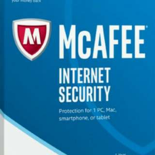 3 years license anti-virus Mcafee for sale