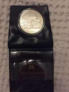 silver d-day june 6 1944, 1 crown coin in capsule, isle of man, collectors edition