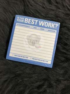 Knock Knock - Is This Your Best Work Sticky Note PostIt