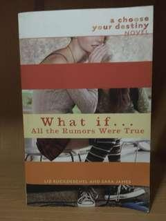 What If All the Rumors Were True by Liz Ruckdeschel & Sara James #bajet20
