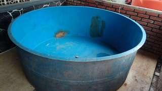 Fiber bak kolam ikan bulat uk 200x70