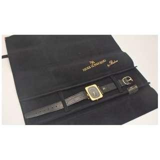 1981 SWISS BULOVA 寶路華錶 18k GOLD PLATED 女裝石英手錶 w/原裝絨袋
