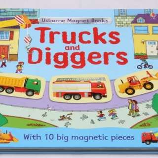BN usborne truck and digget magnet book