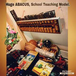 1970s Large Abacus. It is a school teaching model. Great as rare cafe decor or shop decor for  as it can be made into see-thru partition or wall decor.  $68 clearance offer,  Sms 96337309.