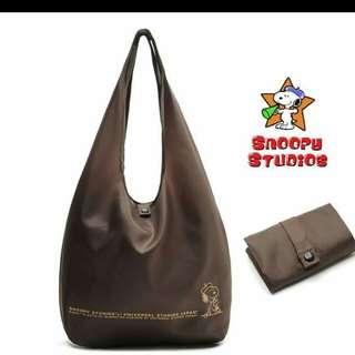 史奴比尼龍摺疊購物袋