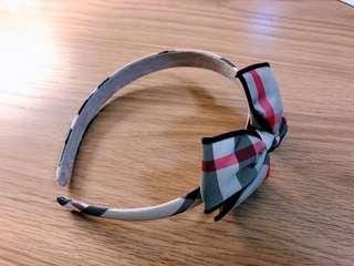 Burberry Style girls headband