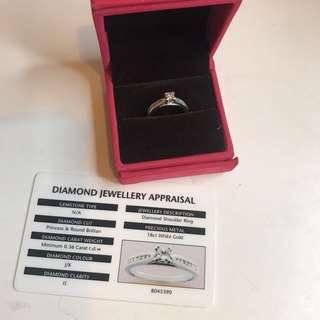 0.36 car diamond ring