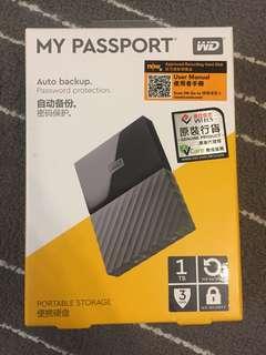 WD My Passport Portable Hard Disk 1TB