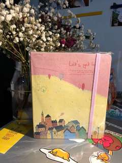 Cute yellow notebook