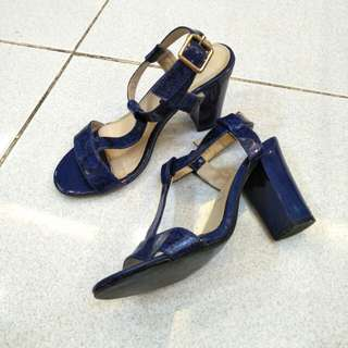 Blue sandals- 3 inches