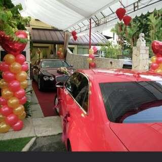 Wedding balloon decoration ROM HELIUM