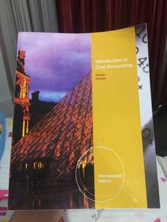 INTRODUCTION TO COST ACCOUNTING BY MOWEN HANSEN - AKUNTANSI BIAYA