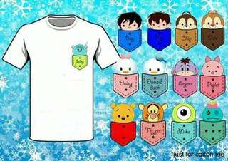 Pocket T • couple shirts • family shirts • Tsum Tsum