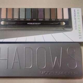Smoky eyeshadow palette + liquid eyeliner