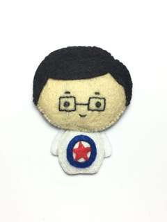 (Sold) Mr Chiam See Tong felt doll