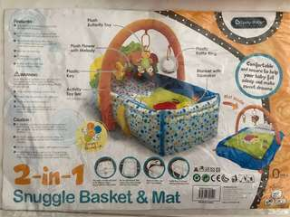Lucky baby 2 in 1 Snuggle Basket & Mat