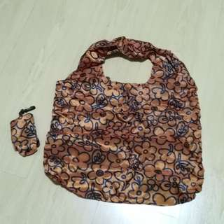 1.Foldable Lightweight Recycle Bag & 2. Innisfree Canvas Side Bag
