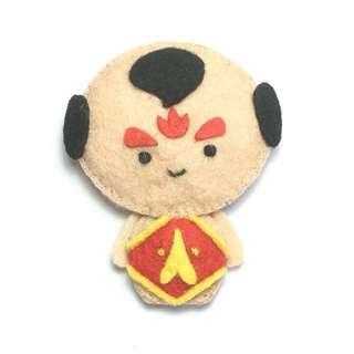(Sold) Handmade felt doll 红孩儿