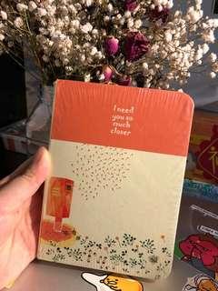 Cute orange notebook