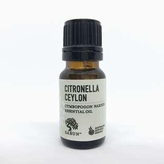 Citronella Ceylon Essential Oil (Organic)