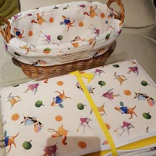 Crabtree & Evelyn Diaper changing mat and basket