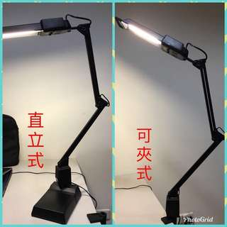 直立式  可夾式 折疊檯燈  夾燈 立燈