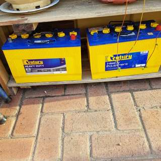 Century heavy Duty car batteries x2 brand New