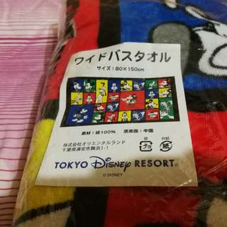 迪士尼米奇與朋友毛巾 disney mickey and friend towel