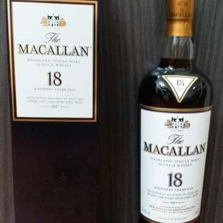 Macallan 18 single malt whisky (日本購入)