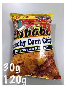 ALIBABA CRUNCHY CORN CHIPS BARBEQUE FLAVOR 30g 120g