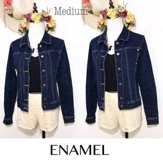 Branded Enamel Denim Jacket Button Down FP20