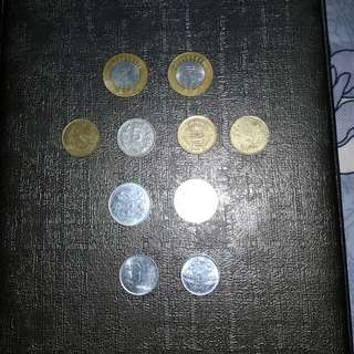 INDIAN 10 RUPEES TO 1 RUPEE