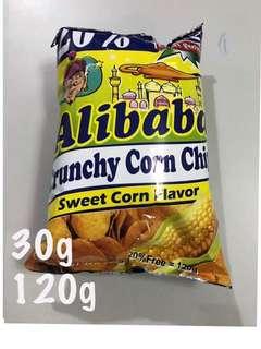 ALIBABA CRUNCHY CORN CHIPS SWEET CORN FLAVOR 30g 120g