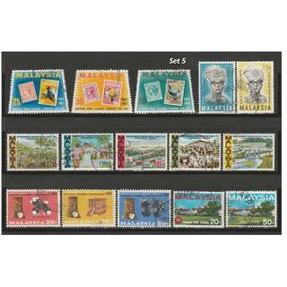 Malaysia 1966-1968 5 complete sets of issues used <Set 5>