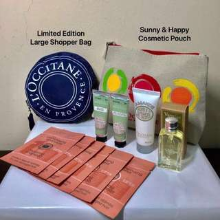 L'occitane (Loccitane) Verveine Amande Set with LIMITED EDITION LARGE FOLDABLE SHOPPER BAG. AUTHENTIC. Check out FREE GIFTS on Listing.
