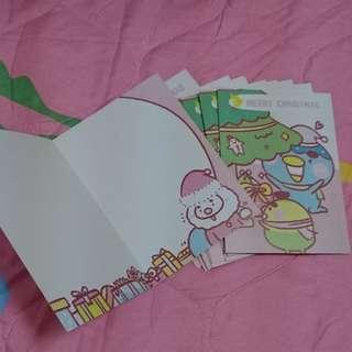 力恩君 香蕉人 河童 卡片 聖誕