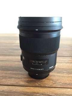 Sigma 50mm F1.4 Art Lens (Nikon Mount)