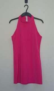Fuschia Halter Dress