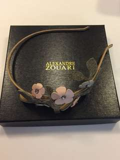 Alexandra Zouari leather flowers headband