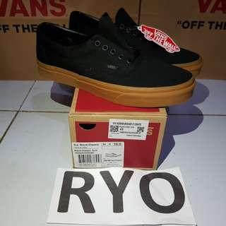 Vans Era Black Gum Sole not old skool pro authentic slip on checkerboard sk8