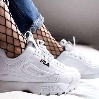 韓國限定FILA DISRUPTOR II 2復古厚底休閒鞋#38號