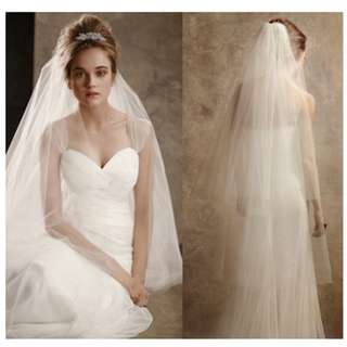 Drop Style Length Tulle 2 Tiers Wedding Veil