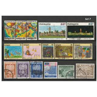 Malaya-Malaysia 1957-1972 6 complete sets of issues used <Set 7>
